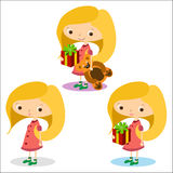 Muchachas 1 feliz Foto de archivo libre de regalías