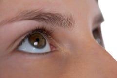 Muchachas ojo y nariz contra el fondo blanco Foto de archivo libre de regalías