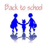 Muchachas que vuelven a la escuela Foto de archivo libre de regalías