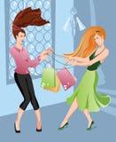 Muchachas shoping Imagen de archivo