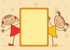 Muchachas sonrientes. Fotos de archivo libres de regalías