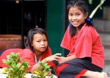 Muchachas tailandesas de la escuela imagen de archivo libre de regalías