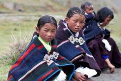 Muchachas tibetanas Foto de archivo libre de regalías