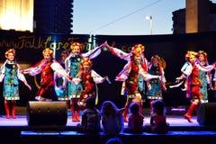 Muchachas ucranianas de baile Imágenes de archivo libres de regalías
