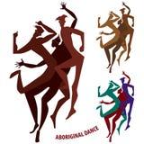 Muchacho aborigen de la danza stock de ilustración