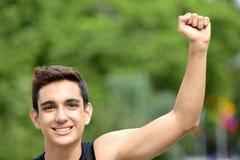 Muchacho adolescente acertado Imágenes de archivo libres de regalías