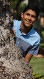 muchacho adolescente afuera Imagen de archivo libre de regalías