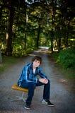 Muchacho adolescente al aire libre Imágenes de archivo libres de regalías