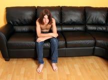 Muchacho adolescente Bummed Foto de archivo