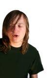 Muchacho adolescente cantante Imagen de archivo