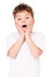 Muchacho adolescente chocado Imagen de archivo libre de regalías