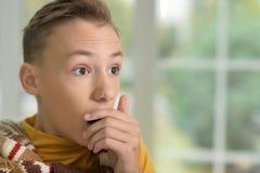 Muchacho adolescente chocado Foto de archivo libre de regalías