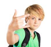 Muchacho adolescente cobarde Imágenes de archivo libres de regalías