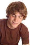 Muchacho adolescente con las paréntesis Fotos de archivo