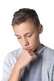 Muchacho adolescente confuso Fotos de archivo libres de regalías