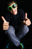 Muchacho adolescente de la diversión Fotografía de archivo libre de regalías