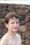 Muchacho adolescente de mirada elegante Imágenes de archivo libres de regalías
