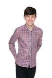 Muchacho adolescente de risa Fotografía de archivo libre de regalías