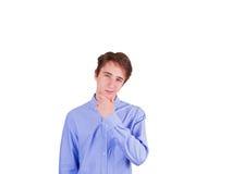 Muchacho adolescente en camisa azul Fotografía de archivo libre de regalías