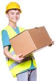 Muchacho adolescente en casco Fotos de archivo libres de regalías