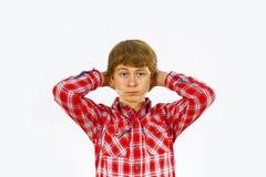Muchacho adolescente en estudio Fotografía de archivo