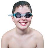 Muchacho adolescente en gafas Foto de archivo