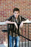 Muchacho adolescente enojado Fotos de archivo