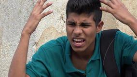 Muchacho adolescente enojado Foto de archivo