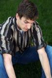 Muchacho adolescente infeliz Fotografía de archivo libre de regalías