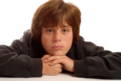 Muchacho adolescente joven aburrido Imágenes de archivo libres de regalías