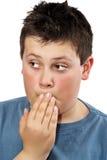 Muchacho adolescente joven apesadumbrado Imágenes de archivo libres de regalías