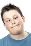 Muchacho adolescente joven divertido Imagen de archivo