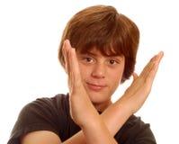 Muchacho adolescente joven lindo Foto de archivo libre de regalías