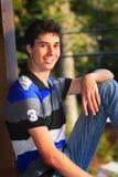Muchacho adolescente lindo Imágenes de archivo libres de regalías