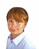 Muchacho adolescente lindo en estudio Fotos de archivo