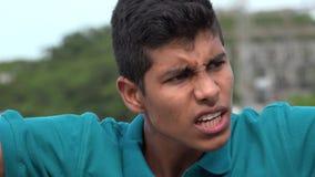 Muchacho adolescente ofendido o enojado Fotos de archivo