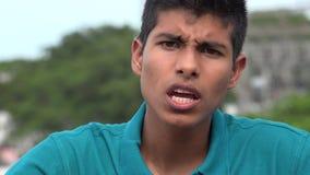 Muchacho adolescente ofendido o enojado Foto de archivo