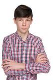 Muchacho adolescente pensativo Fotografía de archivo libre de regalías