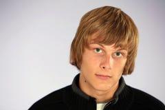 Muchacho adolescente rubio Fotografía de archivo libre de regalías