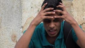 Muchacho adolescente sicopático o neurótico Fotografía de archivo libre de regalías