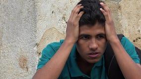 Muchacho adolescente sicopático o neurótico Foto de archivo