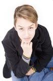 Muchacho adolescente sonriente Fotografía de archivo libre de regalías