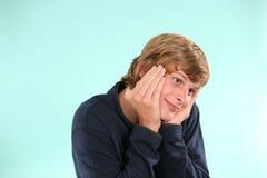 Muchacho adolescente tonto Imagen de archivo