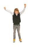 Muchacho adolescente victorioso Fotografía de archivo