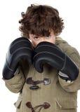 Muchacho adorable con los guantes de boxeo Fotografía de archivo libre de regalías
