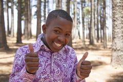 Muchacho africano adolescente Foto de archivo libre de regalías