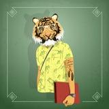Muchacho animal del inconformista ilustración del vector