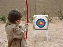 Muchacho Archer tres Fotos de archivo