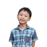 Muchacho asiático con la cara sonriente Fotografía de archivo libre de regalías
