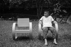Muchacho asiático joven solamente fotografía de archivo libre de regalías